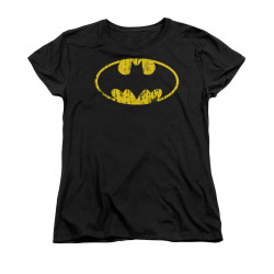 Image for Batman Womans T-Shirt - Classic Logo Distressed