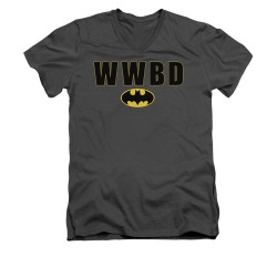 Image for Batman V Neck T-Shirt - WWBD Logo