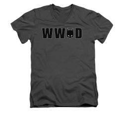 Image for Batman V Neck T-Shirt - WWBD Mask