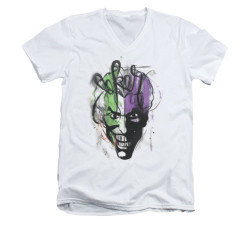 Image for Batman V Neck T-Shirt - Joker Airbrush