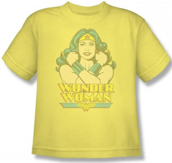 Image for Wonder Woman at Large Youth T-Shirt
