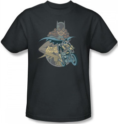 Image Closeup for Batgirl Biker T-Shirt