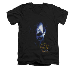 Image for Batman Arkham Asylum V Neck T-Shirt - Arkham Joker