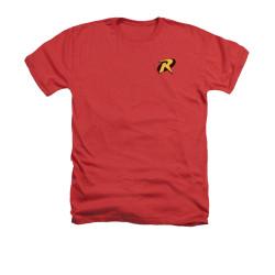 Image for Batman Heather T-Shirt - Robin Logo