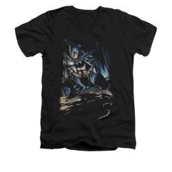 Image for Batman V Neck T-Shirt - Perched