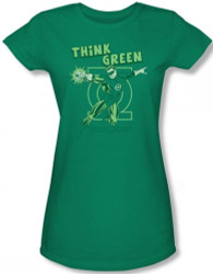 Image for Green Lantern Think Green Girls Shirt