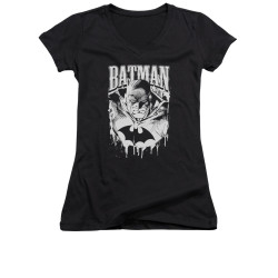 Image for Batman Girls V Neck - Bat Metal