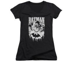 Image for Batman Girls V Neck - Bat Metal