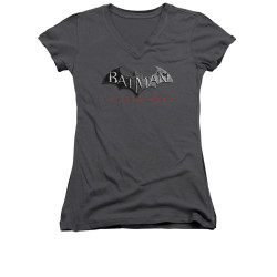Image for Arkham City Girls V Neck - Logo