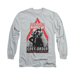 Image for Arkham City Long Sleeve Shirt - Obey Order
