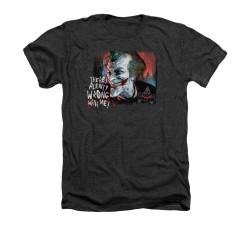 Image for Arkham City Heather T-Shirt - Plenty Wrong