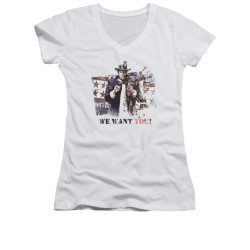Image for Arkham City Girls V Neck - We Want You
