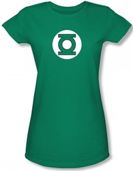 Image for Green Lantern Logo Girls Shirt