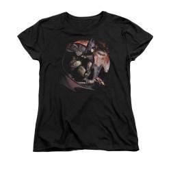 Image for Arkham City Womans T-Shirt - Blood Moon