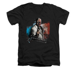 Image for Arkham City V Neck T-Shirt - Two Face