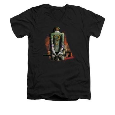 Image for Arkham City V Neck T-Shirt - Riddler Convicted