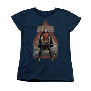 Image for Arkham City Womans T-Shirt - Arkham Robin