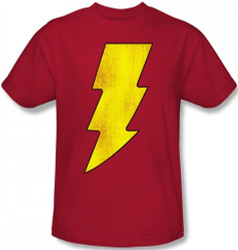 Image Closeup for Captain Marvel Shazam Logo T-Shirt