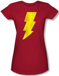 Image for Captain Marvel Shazam Logo Girls Shirt