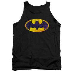 Image for Batman Tank Top - Neon Distress Logo