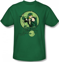 Image Closeup for Green Arrow Drawing T-Shirt