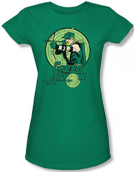 Image for Green Arrow Drawing Girls Shirt