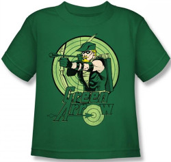 Image for Green Arrow Drawing Kid's T-Shirt