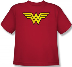 Image for Wonder Woman Distressed Logo Youth T-Shirt DCO277-YT