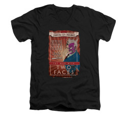 Image for Batman V Neck T-Shirt - Two Faces