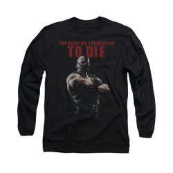 Image for Dark Knight Rises Long Sleeve Shirt - Permission To Die