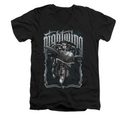 Image for Batman V Neck T-Shirt - Nightwing Biker