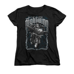 Image for Batman Womans T-Shirt - Nightwing Biker