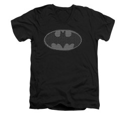 Image for Batman V Neck T-Shirt - Chainmail Shield