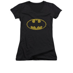 Image for Batman Girls V Neck - Word Logo