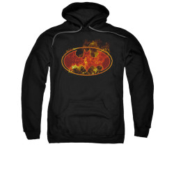 Image for Batman Hoodie - Flames Logo