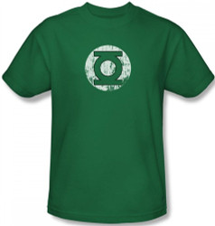 Image Closeup for Green Lantern Distressed Lantern Logo T-Shirt
