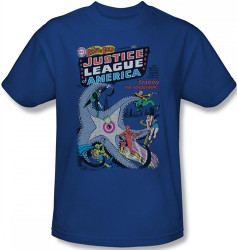 Image Closeup for Justice League of America Number 28 T-Shirt