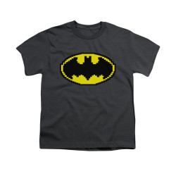 Image for Batman Youth T-Shirt - Pixel Symbol