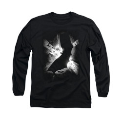 Image for Batman Begins Long Sleeve Shirt - Bw Poster