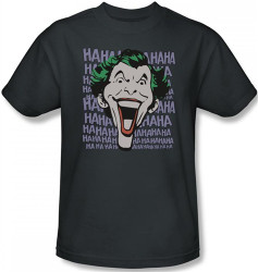 Image Closeup for The Joker T-Shirt - Dastardly Merriment