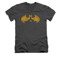 Image for Batman V Neck T-Shirt - Bat Symbol Knockout