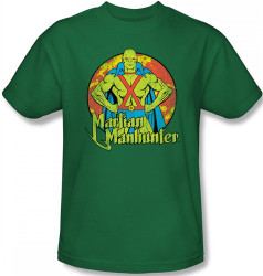 Image Closeup for Martian Manhunter Posing T-Shirt