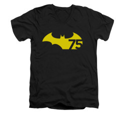 Image for Batman V Neck T-Shirt - 75 Logo 2