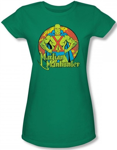 Image for Martian Manhunter Posing Girls Shirt