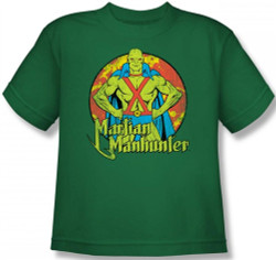 Image for Martian Manhunter Posing Youth T-Shirt