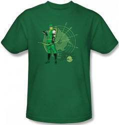 Image Closeup for Green Arrow Target T-Shirt