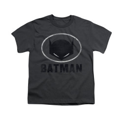 Image for Batman Youth T-Shirt - Mask In Oval