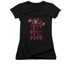 Image for Batman Girls V Neck - Pow Pow