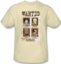 Image Closeup for DC Wanted Poster T-Shirt