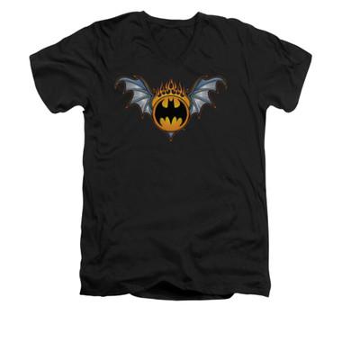 Image for Batman V Neck T-Shirt - Bat Wings Logo